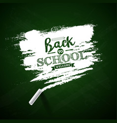 back to school design with green chalkboard and vector image