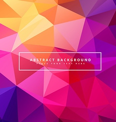 Beautiful colorful polygonal background vector