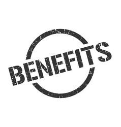 benefits stamp vector image