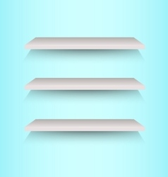 Book shelves on blue background vector