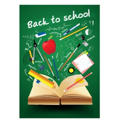 Book with back to school creative concept vector image vector image