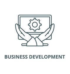 business development line icon linear vector image