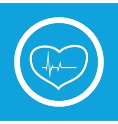Cardiology sign icon vector image