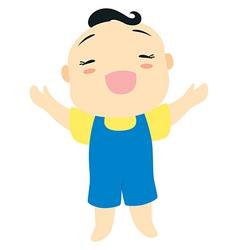 cartoon baby boy vector image