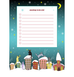 christmas to do list candy cane frame with cute vector image