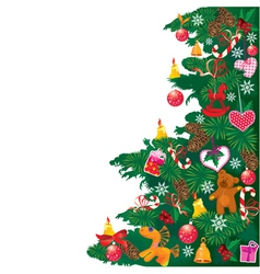 Christmas tree with accessories vector image