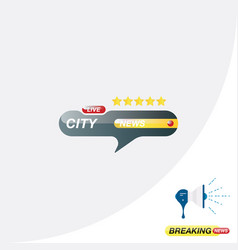 city news icon for journalism of news tv channels vector image