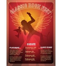 Classic Rock Fest poster design vector image
