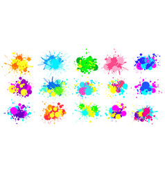 color splatter colorful paint splash bright vector image
