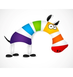 Colored striped zebra vector image