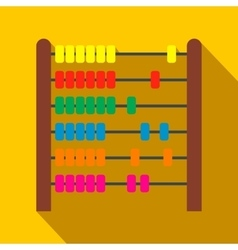 Colorful children abacus flat icon vector