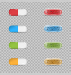 Colorful pill set vector