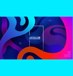 colorful website background paper cut vector image