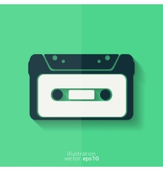 Compact Cassette icon flat design hipster style vector