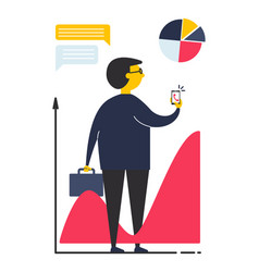 concept business man in flat style vector image