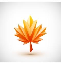 Conceptual polygonal maple leaf vector