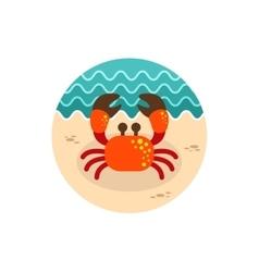 Crab icon Summer Vacation vector