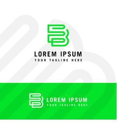 Creative innovative initial be logo and logo b vector