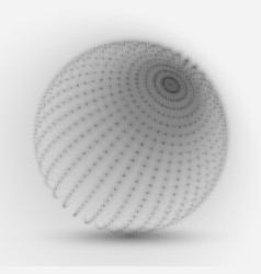 cyber sphere grayscale big data vector image