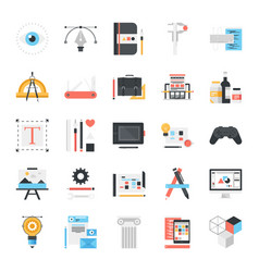 design and development icons vector image