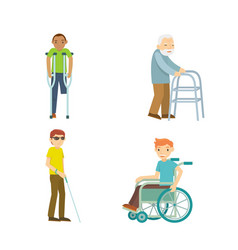 disabled people vector image