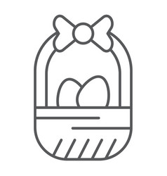 easter basket thin line icon easter and vector image