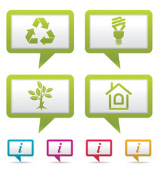 Environment web icons vector