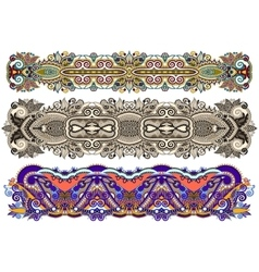 Ethnic ornamental paisley floral pattern for made vector