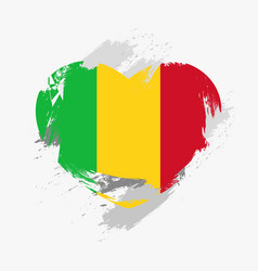flag of mali vector image