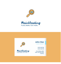 Flat search goods online logo and visiting card vector