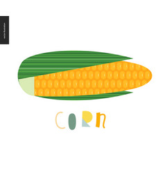 food patterns vegetable corn vector image