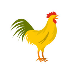 gallic rooster symbol of france icon flat style vector image