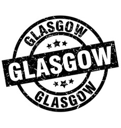 Glasgow black round grunge stamp vector