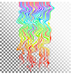 Glitch waves background art digital abstract vector