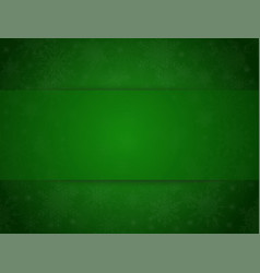 green banner snowflakes christmas or new year vector image