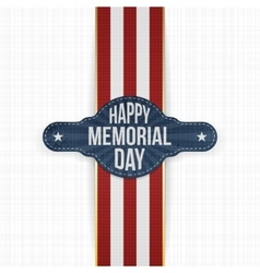 Happy Memorial Day greeting Banner and Ribbon vector