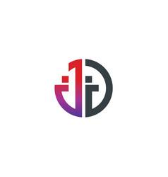 initial letter jj creative design logo vector image