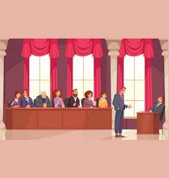 Jury law justice composition vector
