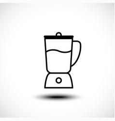 Kitchen blender line icon vector