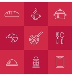 Kitchen seamless pattern vector