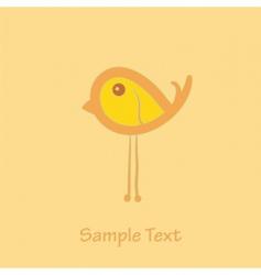 little bird vector image