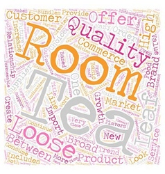 Loose leaf tea and tea room a valuable vector