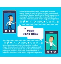Mobile communication presentation vector image