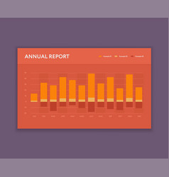 modern bar graph template business infographic vector image