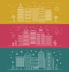 Modern Cityline vector image