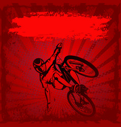 Mtb cyclist vector