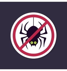 No Ban or Stop signs Spider halloween icon vector