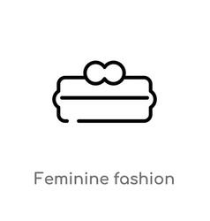outline feminine fashion handbag for money icon vector image