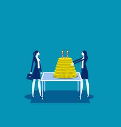partner party celebration birthday business vector image