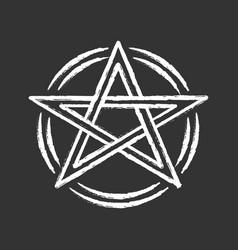 Pentagram chalk icon occult ritual pentacle devil vector
